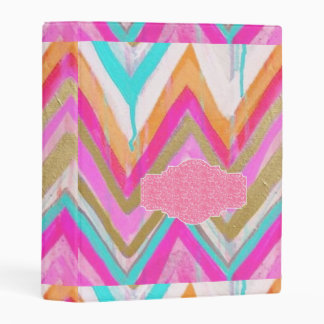 ultra,fun,pink,green,happy,colours,chevron,zigzag, mini binder