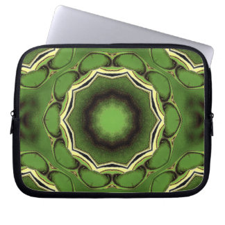 Ultra green black and white spacial laptop sleeve
