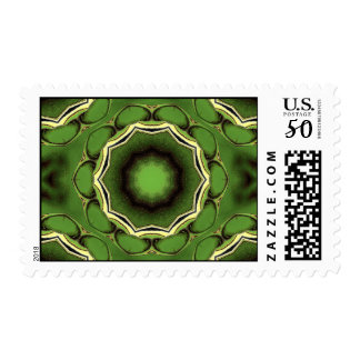 Ultra green black and white spacial postage