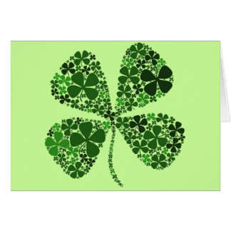 Ultra Lucky 4-leaf Clover Greeting Card