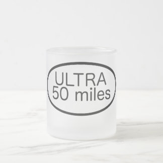 Ultra Marathon Frosted Glass Coffee Mug