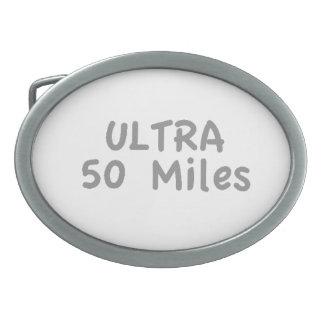 Ultra Marathon Oval Belt Buckle