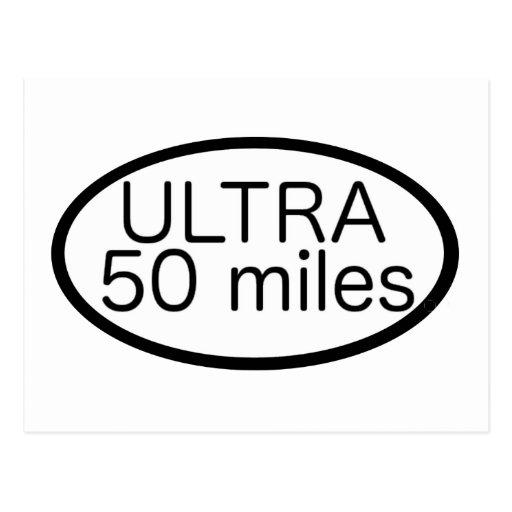 Ultra Marathon Postcard