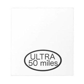 Ultra Marathon Scratch Pads