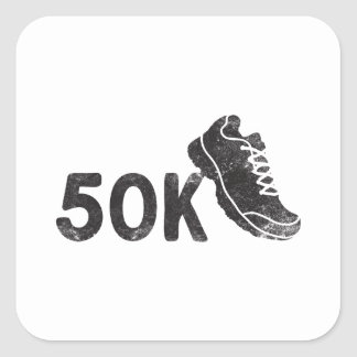 Ultra Marathoner Pegatina Cuadrada