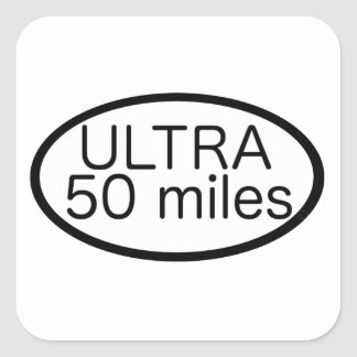 Ultra maratón pegatina cuadrada