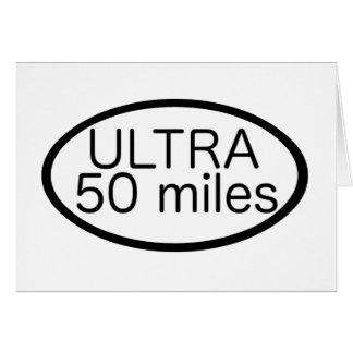 Ultra maratón tarjeta de felicitación