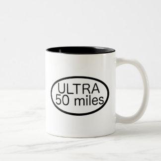 Ultra maratón taza de dos tonos