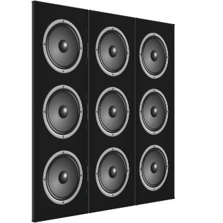 Ultra Modern Faux Speaker System Canvas Print