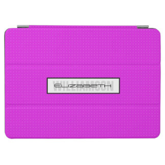 Ultra Modern Pink Monogram iPad Air Cover