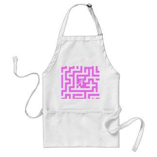 Ultra Pink and White Maze Monogram Apron