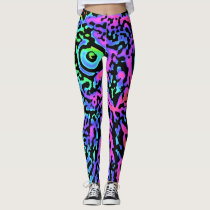 Ultra pop Art 1985 - Owl Leggings