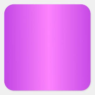 Ultra rosa y pendiente violeta oscura pegatina cuadrada