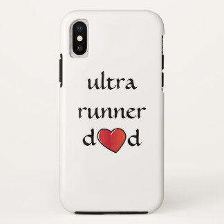 Ultra Runner Dad Red Heart Design iPhone X Case