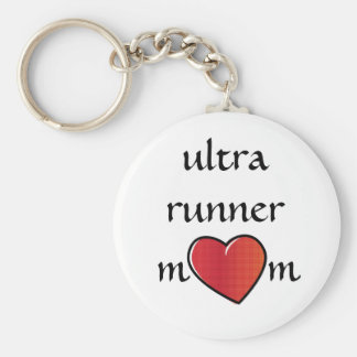Ultra Runner Mom Red Heart Design Keychain