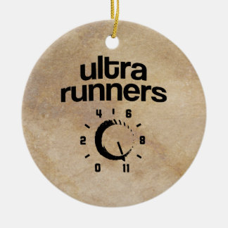 Ultra Runners 11 Double-Sided Ceramic Round Christmas Ornament