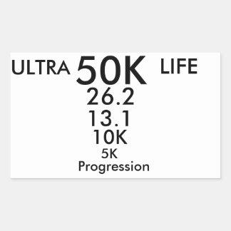 ultra running rectangular sticker