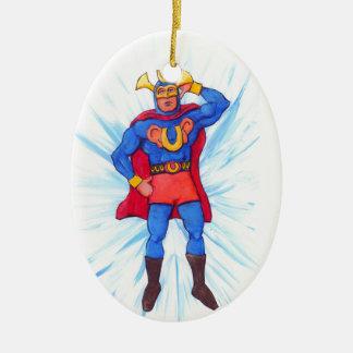 Ultra-Sonic Man Ceramic Ornament