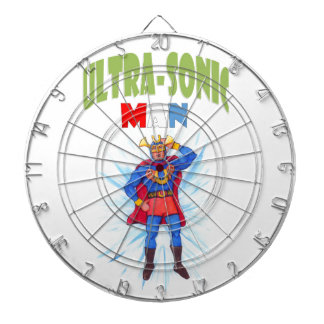 Ultra-Sonic Man Dartboard With Darts