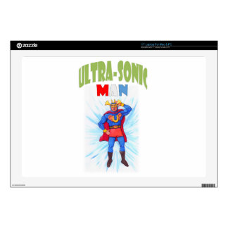 Ultra-Sonic Man Laptop Decals