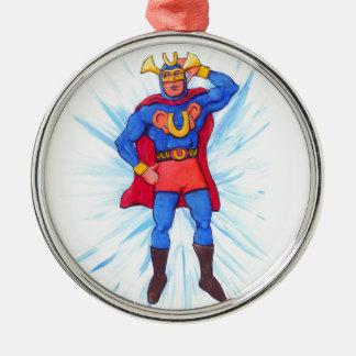Ultra-Sonic Man Metal Ornament