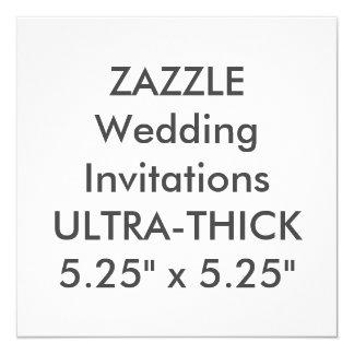 """ULTRA-THICK 360lb 5,25"""" invitaciones cuadradas del Invitación 5.25"""" X 5.25"""""""