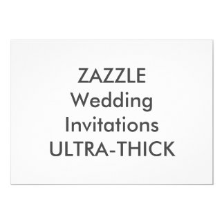 """ULTRA-THICK 7"""" x 5"""" invitaciones del boda Invitación 5"""" X 7"""""""