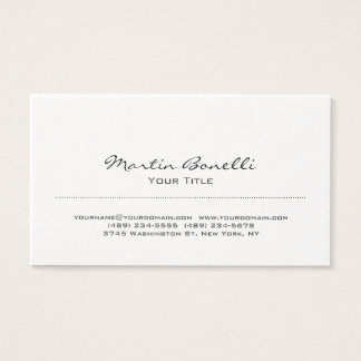 Ultra-Thick Black & White Trendy Business Card