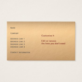 Ultra-thick Premium Bronze Business Card by DigitalDreambuilder at Zazzle