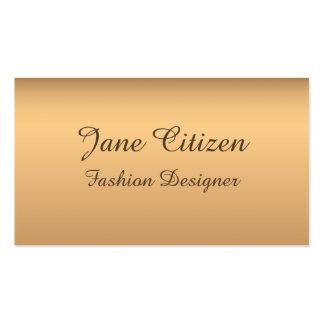 Ultra-Thick Premium Bronze Fashion Business Card