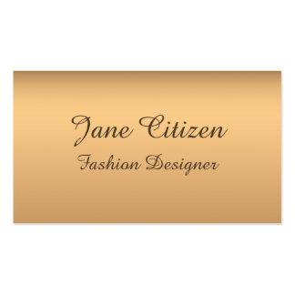 Ultra-Thick Premium Bronze Fashion Double-Sided Standard Business Cards (Pack Of 100)