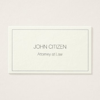 Ultra-thick Premium Cream W/ Border Business Card by DigitalDreambuilder at Zazzle