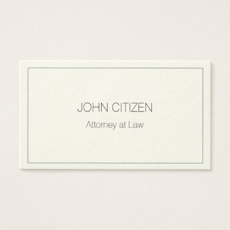 Ultra-thick Premium Cream W/ Border Business Card