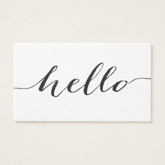 ultrathick premium paper hello business cards
