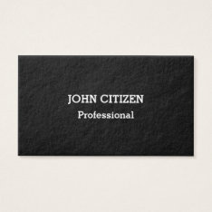 Ultra-Thick Premium Professional Black Business Card at Zazzle