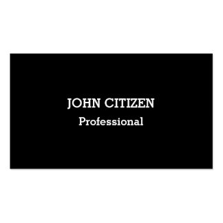 Ultra-Thick Premium Professional Black Double-Sided Standard Business Cards (Pack Of 100)