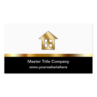 Ultra Thick Title Company Business Cards