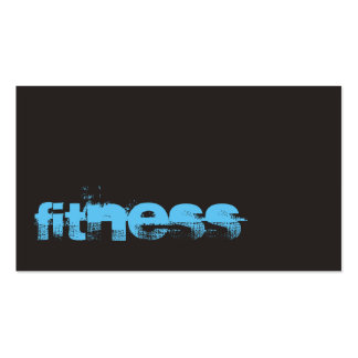 Ultra-Thick Trend Gray Fitness Sport Business Card