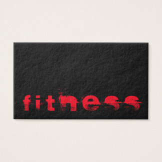 Ultra-Thick Trendy Fitness Sport Business Card