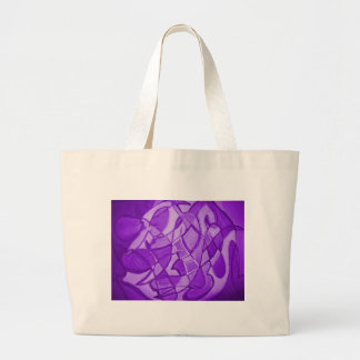 Ultra Violet Abstract Modern Art Large Tote Bag