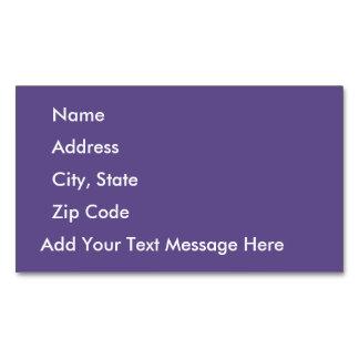 Ultra Violet Business Card Magnet