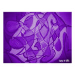Ultra Violet Contemporary Abstract Art Poster