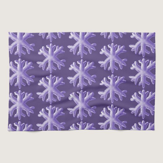 Ultra Violet Fluffy Snowflake Pattern