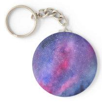 Ultra violet galaxy keychain