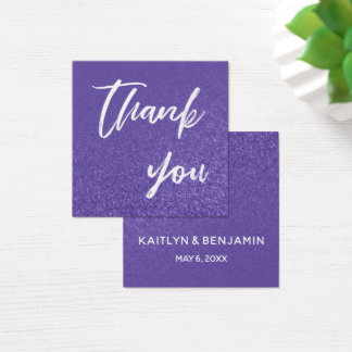 Ultra Violet Glitter Thank You Insert Card