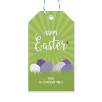 Ultra Violet & Green Happy Easter Gift Tag