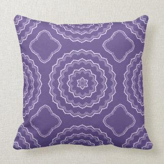 Ultra Violet Mandala Pattern Print Pillow