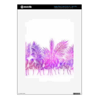 Ultra violet, modern,purple,floral,water color, decal for iPad 3