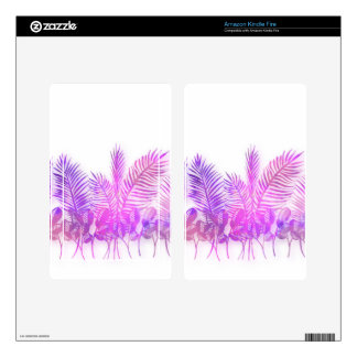 Ultra violet, modern,purple,floral,water color, kindle fire decal