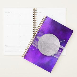 ultra violet, modern,purple,triangle,silver,trendy planner